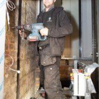 preparing the lift shaft